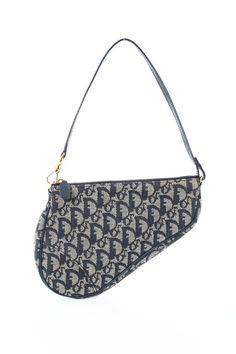 Dior Blue Monogram Mini Saddle Bag  - $162