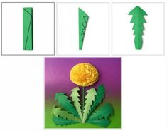 nice dandelion from paper - interesting quilling craft idea