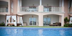 Our swim up room at Majestic Elegance Punta Cana!  The entire bottom floor, with jacuzzi, Bali bed, suite with living and bedroom, walk in closet!  Beautiful!