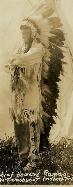 Penobscot Indian Art | Details about C1933 RPPC Postcard Penobscot Indians Chief Hwrd Ranco
