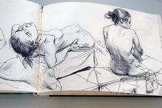 model james dean illustrator female nude sketchbook page spread pages Life Drawing, Figure Drawing, Painting & Drawing, Artist Sketchbook, Sketchbook Pages, Illustration Sketches, Drawing Sketches, Sketching, Moleskine