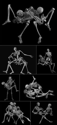 skeleton erotica....just plain weird! Lol