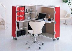 Trunk Station is a Compact and Hidden Work Space #pets