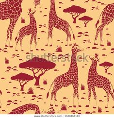 Find Seamless Pattern Giraffe Repetitive Textile Vector stock images in HD and millions of other royalty-free stock photos, illustrations and vectors in the Shutterstock collection. Thousands of new, high-quality pictures added every day. Vector Stock, Designer Wallpaper, Giraffe, Create Yourself, Moose Art, Royalty Free Stock Photos, Textiles, Illustration, Artist