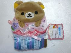 NWT Rilakkuma Sweets Cupcake Coin Case Purse Plush Relax Bear San-X 2009 JAPAN