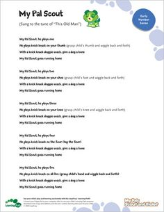 LeapFrog Printable: My Pal Scout- Sing this adorable counting song to the tune of This Old Man.