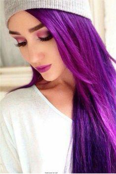 How to Dye Your Hair Purple Hair and nails Love Hair, Gorgeous Hair, Curls Haircut, Coloured Hair, Bright Colored Hair, Dye My Hair, Rainbow Hair, Human Hair Extensions, Pretty Hairstyles