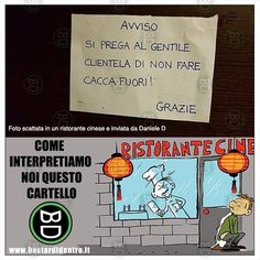 Una cagata di #cartello #bastardidentro #ristorante #cinese #ipnoticamentebastardidentro www.bastardidentro.it