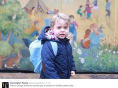 Le prince George enfin à la crèche, le 6 janvier 2016