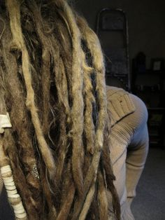 This is kind of where mine are headed. Just give 'em a year or two =) This is kind of where mine Dreadlock Hairstyles, Twist Hairstyles, Cool Hairstyles, Black Hairstyles, Wedding Hairstyles, Natural Dreads, Natural Hair Updo, Natural Hair Styles, White Dreads