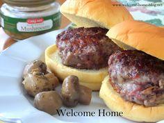 Welcome Home Blog: Mushroom Swiss Sliders