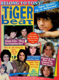 """Tiger Beat (August 1971) Giant David [Cassidy]wall-size-loving color poster!Fill your room! Biggest size ever! Sizzling secrets about Bobby's TV show! Meet the new Osmonds! David cries:""""They won't let me near you!"""" Intimate on-tour fax & fotos Susan Dey's pet friends  Tiger Beat (April 1972) Super Donny [Osmond] issue! """"Be my date for my brother's …"""