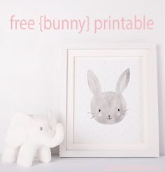 There's nothing sweeter than little baby bunnies for decorating a nursery! Click here to print off this bunny or one of her other 3 buddies! https://blog.littlegirlspearls.com/animal-friends-free-printable-set/ <3 #littlegirlspearls #nursery #freeprintable