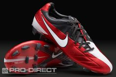 View and buy the Nike Laser IV KL-FG Boots - Red/White/Anthracite Nike at Pro:Direct SOCCER. Air Max Sneakers, Sneakers Nike, Nike Football Boots, Soccer Cleats, Nike Air Max, Red And White, Challenges, Ibm, Balls