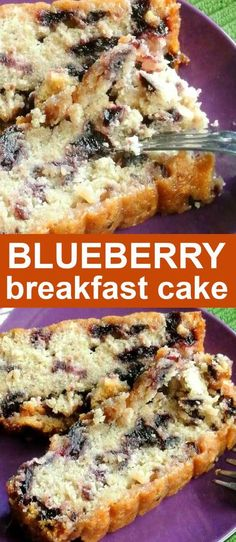 Easy Lemon Blueberry Cake is dairy free and easy to make. It's a blueberry breakfast cake from scratch where you can use fresh or frozen blueberries. The sweetened fresh squeezed lemon juice is perfect for the glaze. #LemonBlueberryCake #EasyLemonBlueberryCake #BlueberrySourCreamCoffeeCake #BlueberryBreakfastCake #VeganLemonBlueberryCake #TastyLemonBlueberryCake Easy Cake Recipes, Best Dessert Recipes, Brunch Recipes, Easy Desserts, Delicious Desserts, Fast Dinner Recipes, Vegan Recipes Easy, Bread Recipes, Egg Recipes For Breakfast