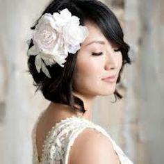 Short hair wedding hairstyle. Love!!!