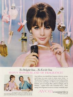 1964 Avon Cosmetics Ad Fragrance Vintage Perfume Advertisement Beauty Advertising Print Bathroom Wall Art Decor
