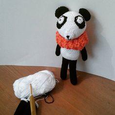 Panda en amigurumi / Panda homemade knitting