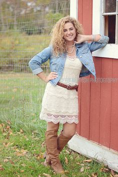 Senior Girl. What to Wear.Cousin Emily Tussey wearing my boots she is gorgeous