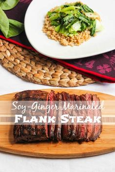 Soy-Ginger Marinated Flank Steak | TheCornerKitchenBlog.com #recipe