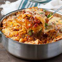 Tex-Mex Enchilada Skillet Lasagna #ChooseDreams #SundaySupper