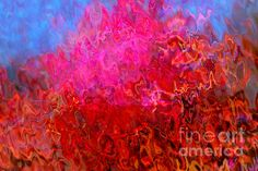 Expressionist-style, distorted abstract of Nodding Thistle flower.