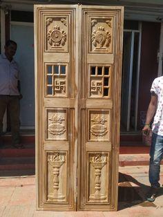 Pooja Room Door Design, Ceiling Design Living Room, Door Design Interior, Single Door Design, Wooden Main Door Design, Wooden Glass Door, Door Design Images, Modern Wooden Doors, Modern Exterior Doors