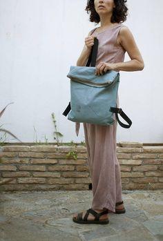 Minimal Backpack Canvas Backpack Medium Backpack Laptop