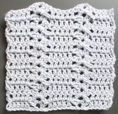 Free Crochet Patterns for the Beginner and the Advanced: Crochet Video tutorial: Climbing Shells Crochet Stitch Pattern