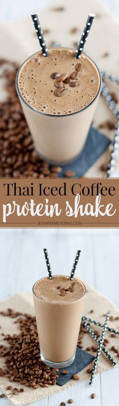 Thai Iced Coffee Protein Shake - http://JenniferMeyering.com