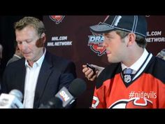 It was a cool moment. Martin #Brodeur called his son's name as the #NJDevils drafted Anthony Brodeur 208th overall at the #NHLDraft. They spoke with media after.