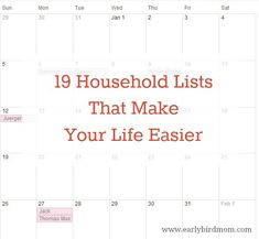 19 Household Lists That Make Your Life Easier