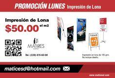 Imprime tus Lonas desde $50.00 el m2. #Lunes #promoción #MaticesDiseño
