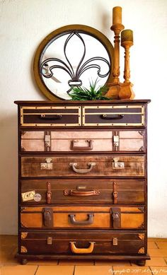 Turn A Bureau Into A Vintage Stack Of Suitcases – Reader Feature