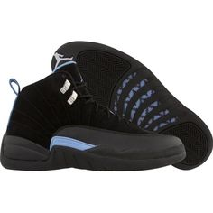 Nike Air Jordan 12 Retro (black white university blue) Shoes ( 110) ❤ liked  on Polyvore featuring shoes 7443b8058