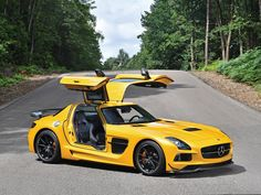 """Driven By The Inner Force. SLS AMG Black Series """"The Ultimate Weapon"""". The SLS AMG Coupé Black Series accelerates to 100 km/h in seconds. The top speed stands at 315 km/h. The Mercedes-AMG N/A engine generating a. Mercedes Amg, Mercedes Classic Cars, Maserati, Bugatti, Porsche, Audi, Koenigsegg, Rolls Royce, Sls Black Series"""