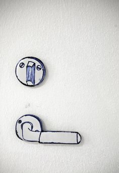 Ceramic by Marianne Hallberg - I would draw a door around it on an empty wall.