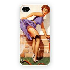 American Pin Up Girl Skirt Hard Cover iPhone Case WORLDWIDE SHIPPING!!