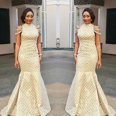 29 Royal Asoebi Styles For Posh Slay Queens - AfroCosmopolitan African Wedding Dress, African Print Dresses, African Dresses For Women, African Print Fashion, African Wear, African Attire, African Fashion Dresses, African Women, Ghanaian Fashion