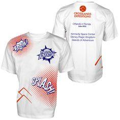 Camisetas para expedición #DeClasesEnOrlando 2015. Camiseta para Islands of Adventure, Universal Orlando Resort