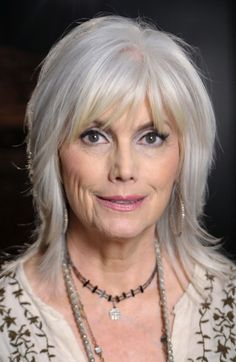 Some Pictures Of Alternative Hairstyles For Gray Hair That Will You Like It : Hairstyles For Women Over 50 With Medium Hair Grey Hair Color , This Style Is A Good Alternative For Gray Hair With Simple Ombre Style