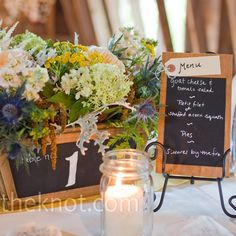 """Chalkboard Centerpieces and Menus    Goes with the whole """"school"""" theme!!!!"""