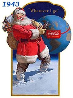 Vintage Coca-Cola - Coca-Cola - Vintages Cards - Christmas Wallpapers, Free ClipArt for Xmas, Icon's, Web Element, Victorian Christmas Photos and Vintage Santa Claus pictures