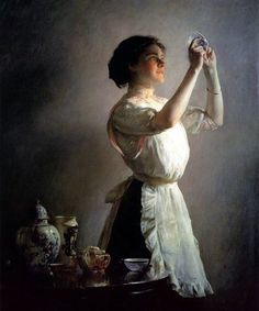 small_the-blue-cup-bmp-Joseph Rodefer DeCamp (1858 – 1923)