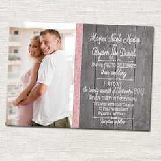 Custom Photo Wedding Invitations Print by photocards4everythng, $12.50