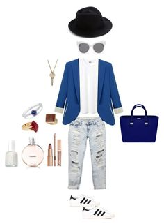 """Untitled #150"" by emmalish on Polyvore featuring Wet Seal, adidas, Dorothy Perkins, Lola Rose, BERRICLE, The Giving Keys, Essie, Eugenia Kim and Blanc & Eclare"