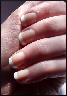 The classic french. The only way I get me nails done these days.