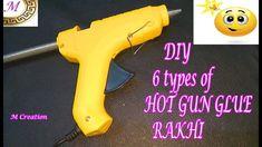 Rakhi Making/6 creative hot gun glue rakhi Rakhi Making, Handmade Rakhi, Gun, Easy Diy, Creative, How To Make, Firearms, Pistols, Revolvers