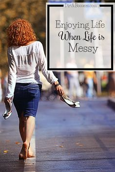 This is great!  How to really savor and enjoy life when it gets chaotic and messy.  Has an awesome resource for your family too!