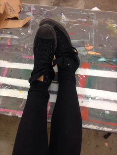 if high tops weren't in style with all the popular and fake (im dead serious about these girls) girls at my school: id buy these lovely alal black hightopss #wishlist